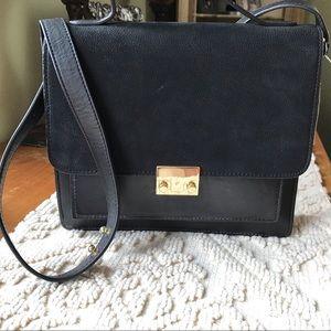 NWT Loeffler Randall Black Leather Crossbody